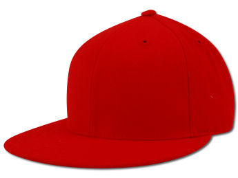 Rim Plain Fitted Acrylic cap Red £9.99